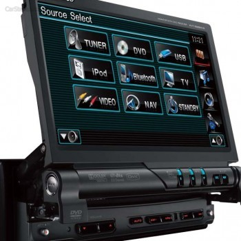 Универсальная 1DIN Автомагнитола Kenwood KVT-526DVD